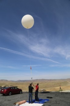 Sego and Kubitz suspended a Revell Mustang model kit below a high-altitude weather balloon along with a few small action cameras to document the event.